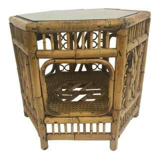 Chinoiserie Bamboo Side Table
