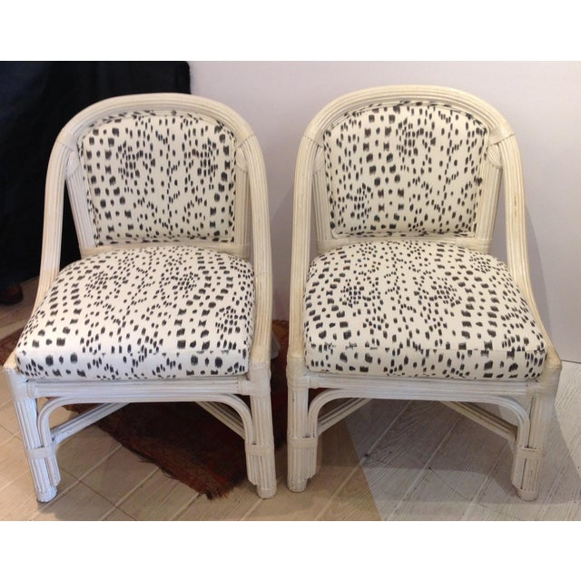 Henry Link was famous for making furniture that would last forever. These faux reeled rattan chairs from 1960's are just...