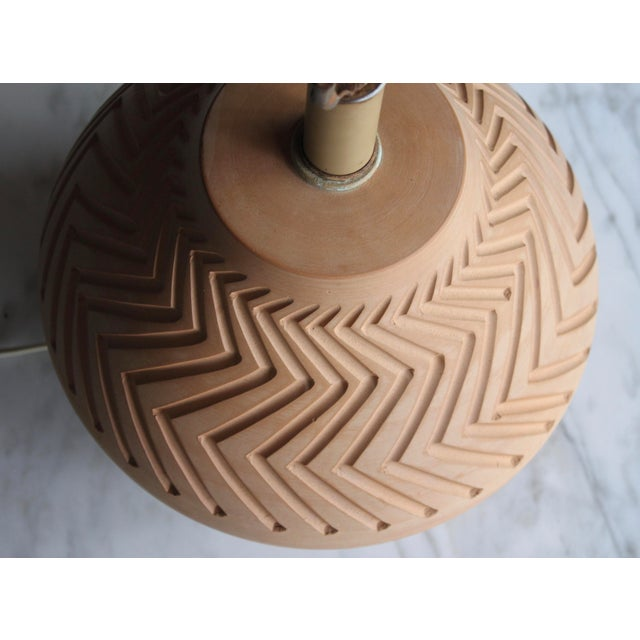 Native American Art Pottery Lamp - Image 4 of 11
