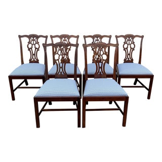 1990s Vintage Maitland Smith Chippendale Chairs - Set of 6 For Sale
