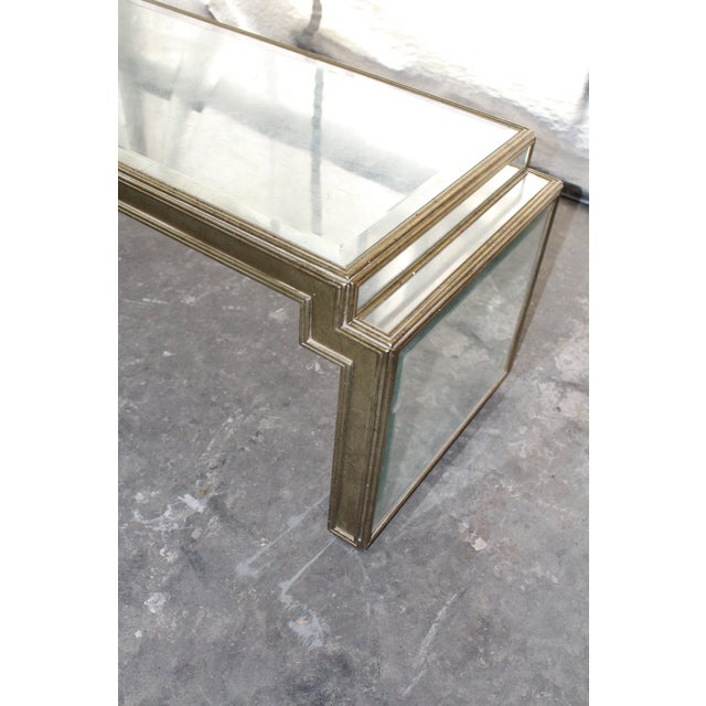 Vintage Mid-Century Mirrored Coffee Table For Sale - Image 4 of 6