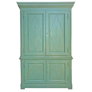 19th Century Italian Painted Pine Cabinet For Sale