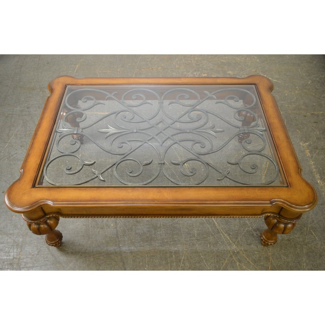 Ethan Allen Gage Coffee Table: Ethan Allen Devereaux Tuscan Style Coffee Table (B)