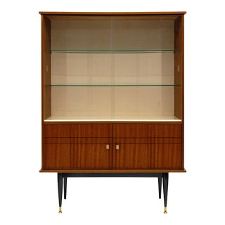 Mid-Century Rosewood Silver Cabinet For Sale