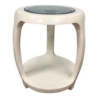 Maitland Smith Tasselated Stone Side Table