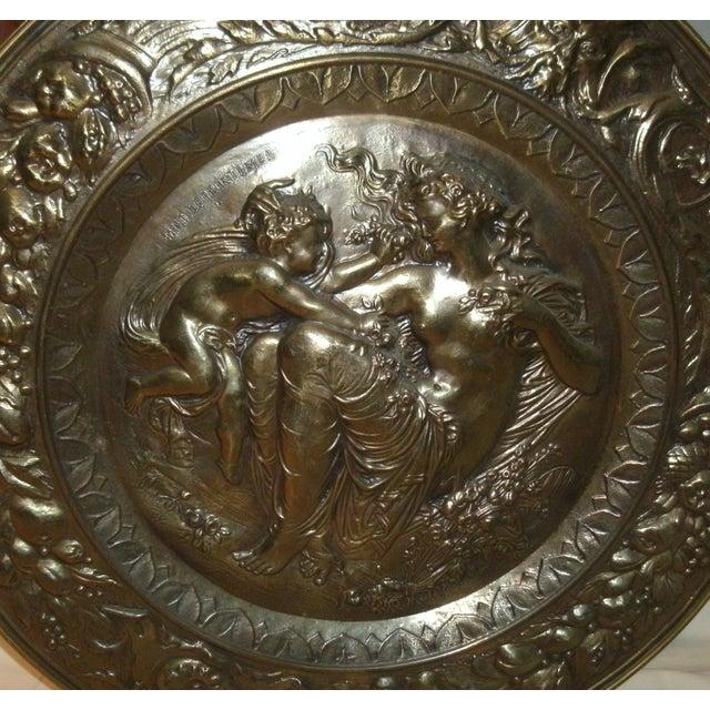 Hand Embossed Greek Mythology Wall Art Discs - Set of 3 For Sale - Image 9 of 13