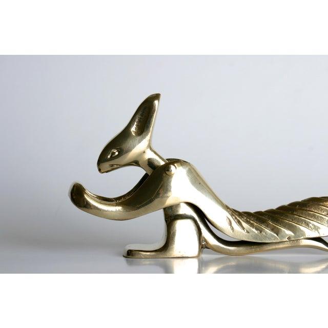 Vintage Brass Squirrel Nutcracker For Sale - Image 5 of 7