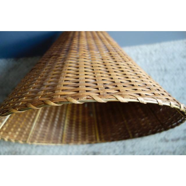 1970s 1970s Wicker Rattan Lampshade For Sale - Image 5 of 9