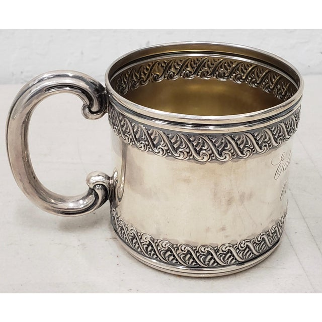 Silver Late 19th Century Sterling Silver Christening Cup C.1896 For Sale - Image 8 of 8