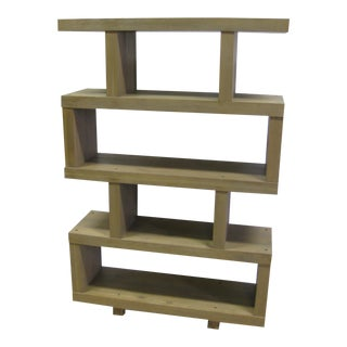 Contemporary Mid-Century Modern Style Room Divider or Bookcase For Sale