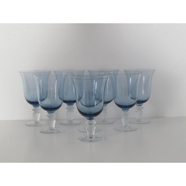 Blue Glass Goblets - Set of 8 - Image 2 of 5
