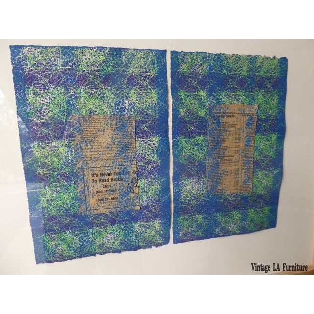 Abstract Contemporary Abstract Newspaper Print For Sale - Image 3 of 11