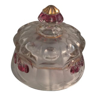 Vintage Glass Cheese or Butter Dome For Sale