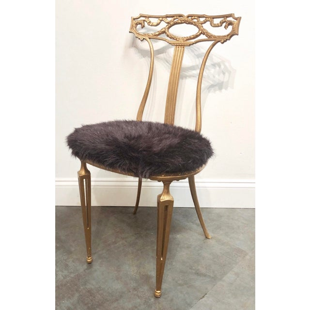 Elegant, Italian chair from the 1950s, made by Palladio. Highly stylized with neoclassical/Hollywood Regency/Chiavari...