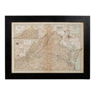 Sarreid Ltd. 1897 Framed Map of Virginia