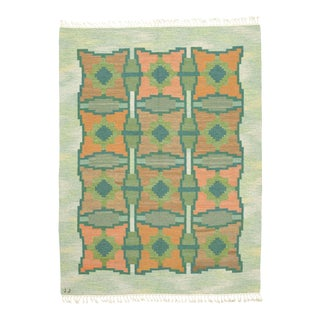 Swedish Flat Weave Rug by Judith Johansson- 5′7″ × 8′9″ For Sale