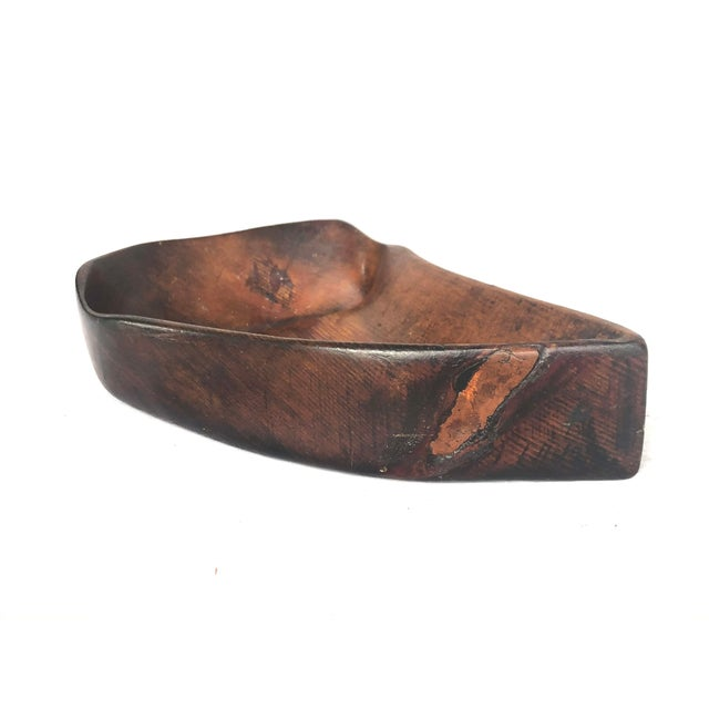 1950s Organic Modern Hand Carved Wooden Bowl For Sale - Image 10 of 11