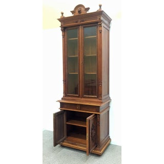 Extraordinary Ebonized Antique French Louis Philippe Book Cabinet Preview