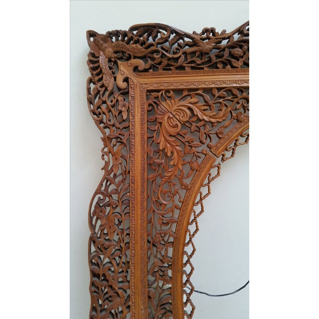 Brown Antique Anglo Indian Carved Wood Frame For Sale - Image 8 of 9