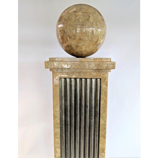 Modern Enrique Garcel Tessellated Stone Pedestal For Sale - Image 3 of 12