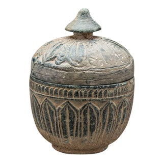 Gandharan Buddhist Green Schist Reliquary For Sale