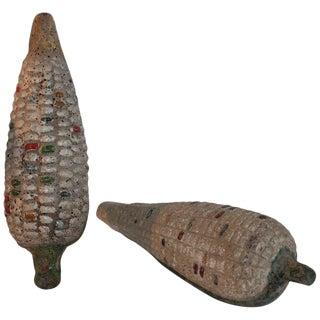 Folk Art Handmade Terracotta Corn or Pair For Sale