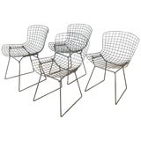 Image of Set of Four Bertoia for Knoll Grey 420c Side Chairs, Early 1980s For Sale