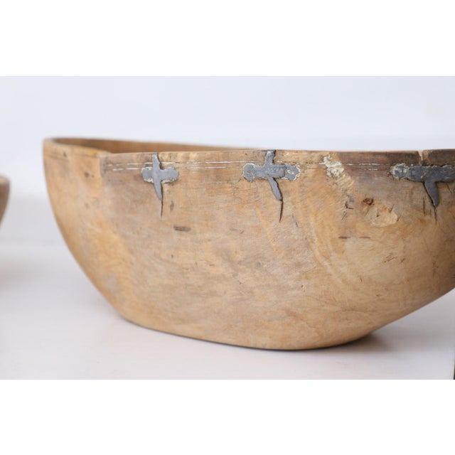 Set of Three 19th Century Swedish Root Wood Bowls For Sale - Image 4 of 11