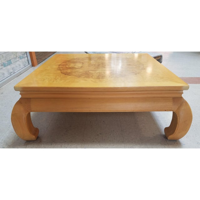 Asian Ming Henredon Burl Wood Coffee Table For Sale In Phoenix - Image 6 of 12