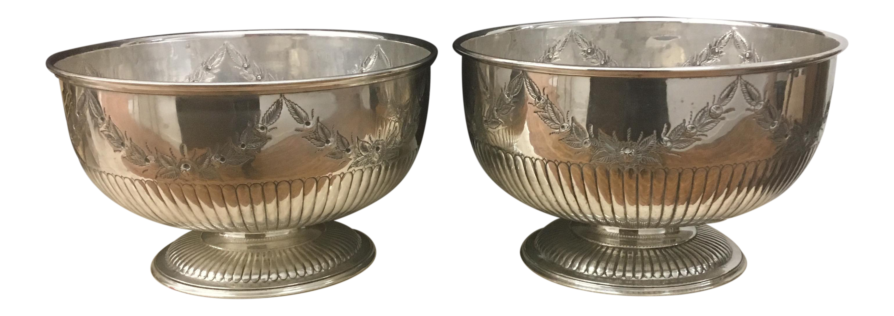 Bowls - Silver Plate English Punch Bowls - Set of 2  sc 1 st  Chairish & Bowls - Silver Plate English Punch Bowls - Set of 2 | Chairish