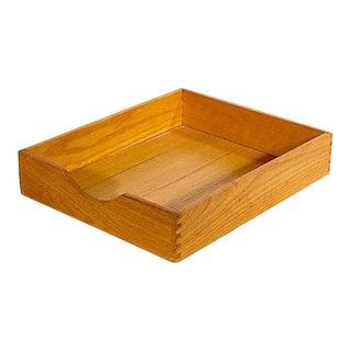 Oak Wood Desk Paper Holder