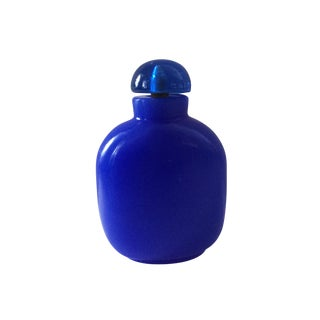 Peking Glass Lapis Blue Snuff Bottle For Sale