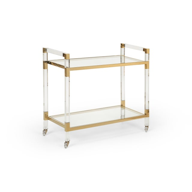 Contemporary Contemporary Chelsea House Inc Acrylic Bar Cart For Sale - Image 3 of 3