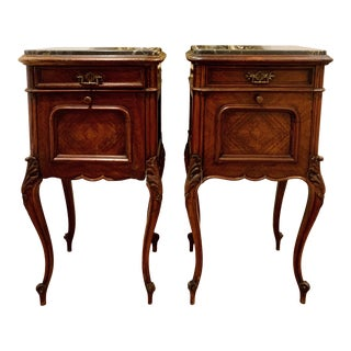 Antique French Louis XV Bedside Commodes - a Pair For Sale