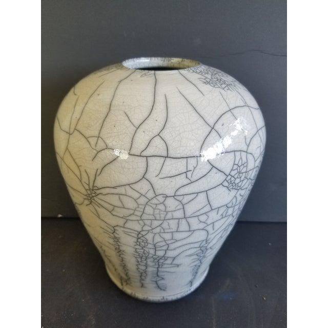 Ceramic Les Mitchell Raku Vase For Sale - Image 7 of 7