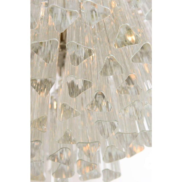 1960s Mid-Century Modern Lush Camer Glass Chandelier For Sale - Image 9 of 11