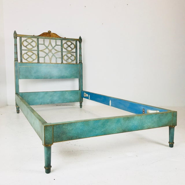 Pair of vintage chinoiserie Pagoda twin beds by Kittinger. Beds are in good vintage condition with minor chipping with...
