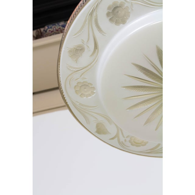 Glass Hollywood Regency Flush Mount Fixtures - A Pair For Sale - Image 7 of 9
