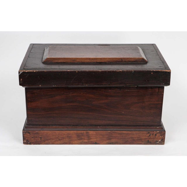 Traditional Small Carpenter's Chest C. 1900 For Sale - Image 3 of 10
