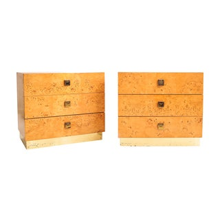 Thomasville Burl Wood Nightstands - Pair