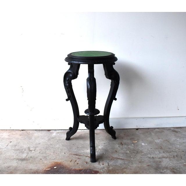 French Napoleon III Black Ebonized Plant Stand Gueridon Table For Sale - Image 4 of 12