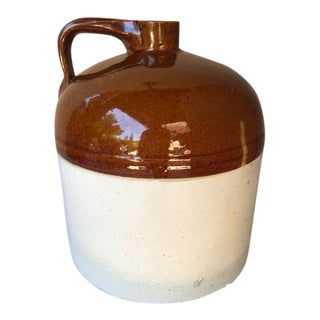 Antique Early 20th Century Stoneware Jug For Sale
