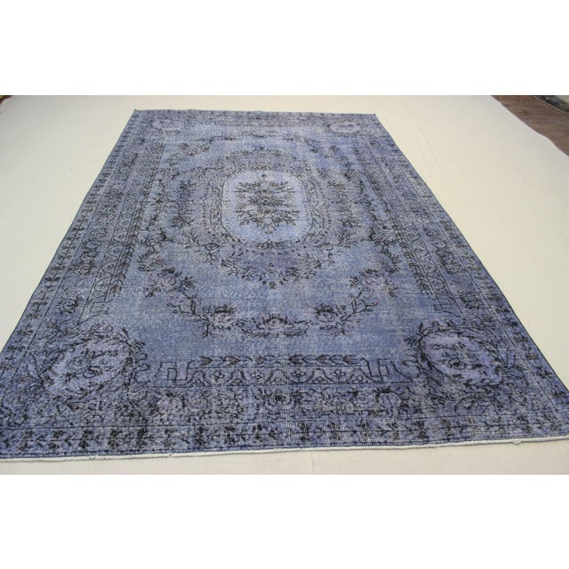 Turkish Overdyed Rug - 6′5″ × 9′9″ For Sale In Atlanta - Image 6 of 9