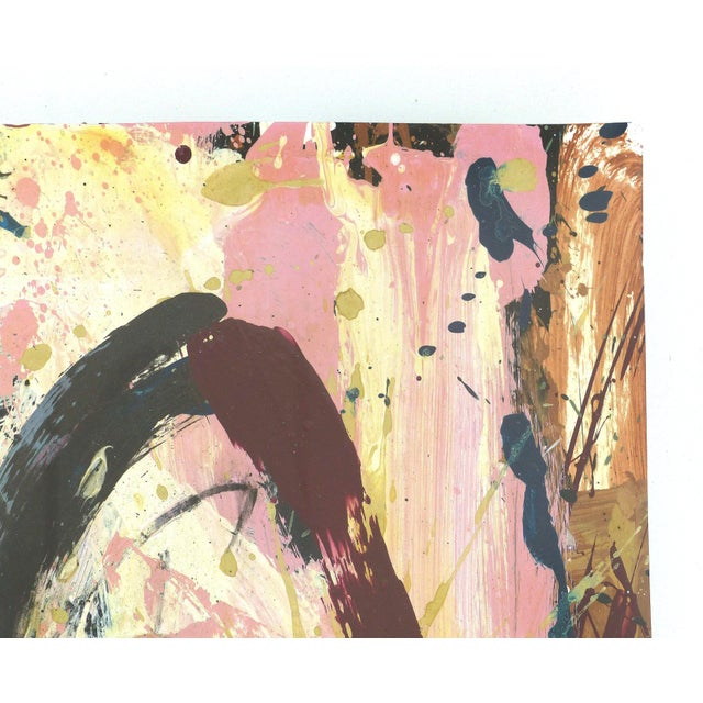 Abstract Mixed-Media Painting by William Phelps Montgomery 'Stitch in Time' For Sale In Miami - Image 6 of 10