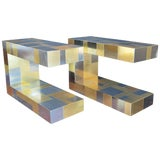 Image of Pair of Paul Evans Cityscape Side Tables For Sale