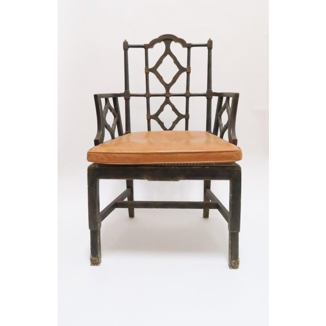 Vintage Chinoiserie Style Wooden Chair - Image 2 of 8