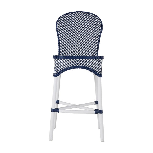 Savoy Bar Stool in Blue For Sale In Birmingham - Image 6 of 6