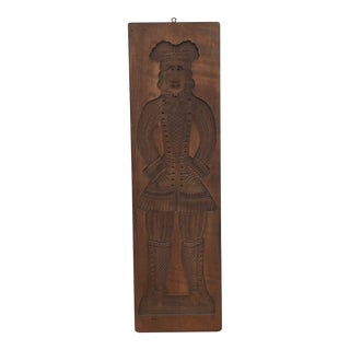 Mid 20th Century Dutch Speculaas Springerle Cookie Board Mold For Sale