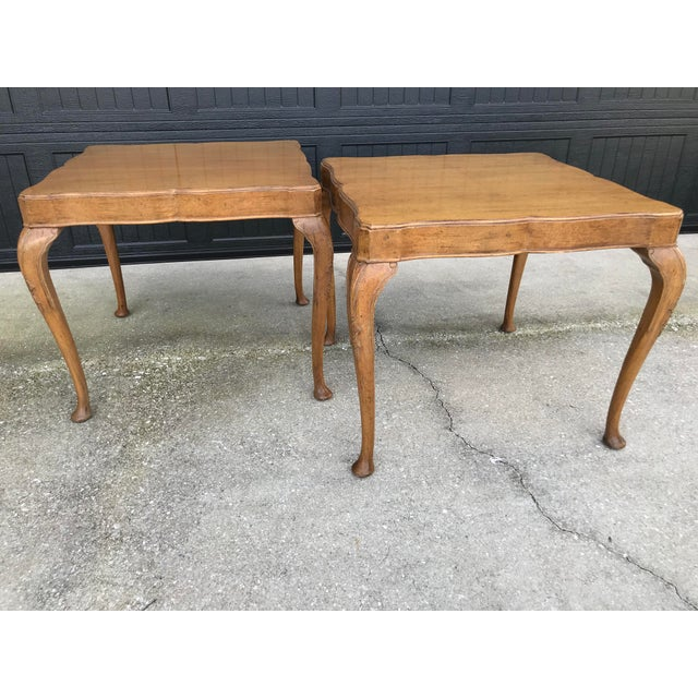 Wellington Hall French Country Queen Anne Side Tables-A Pair For Sale - Image 13 of 13