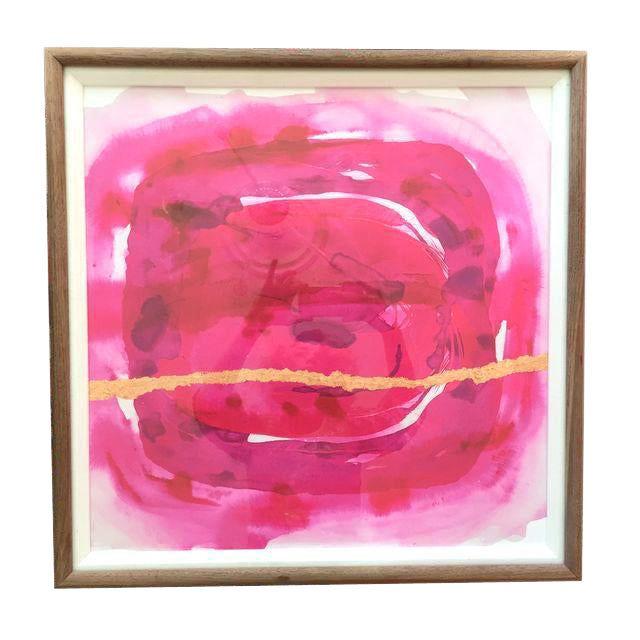 Framed Painting - Wabi Sabi Fuschia For Sale